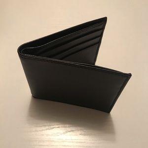 Genuine lambskin bifold men's wallet